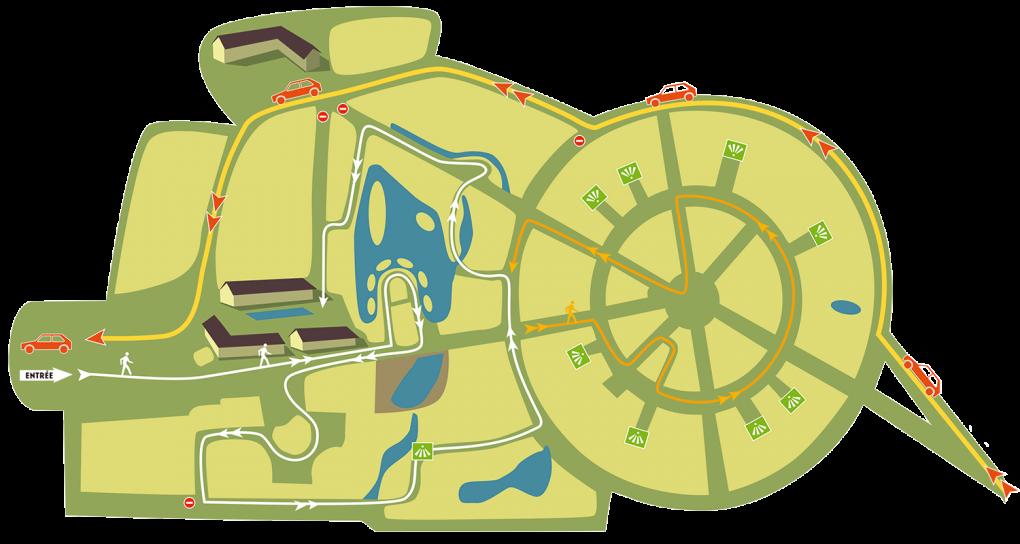 Plan parcours pédestre